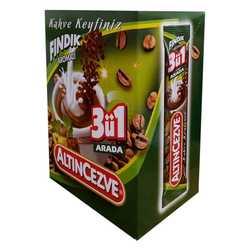 3 ü 1 Arada Fındık Aromalı Kahve 15 Gr X 20 Adet - Üçü Birarada Fındıklı - Thumbnail