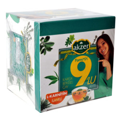 Akzer - 9lu Form Bitkisel Çay 60 Süzen Pşt Görseli