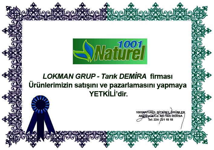 1001 Naturel Yetkili Satış Belgesi