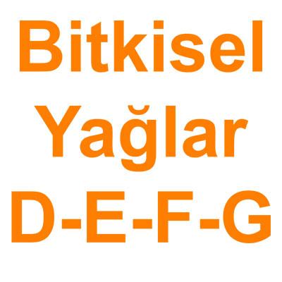 Bitkisel Yağlar D-E-F-G kategorisi ürünlerini inceleyin!