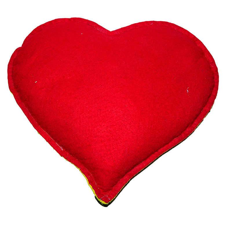 Tuz Yastığı Kalp Desenli Mor - Kırmızı