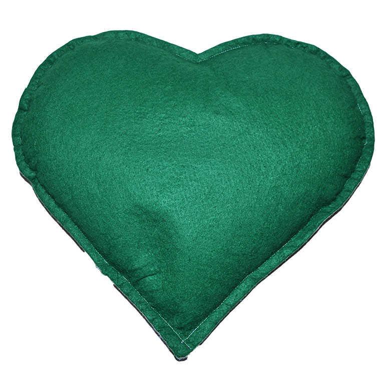 Tuz Yastığı Kalp Desenli Yeşil - Pudra
