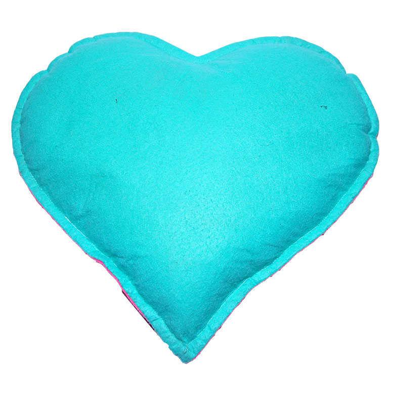 Tuz Yastığı Kalp Desenli Yeşil - Pembe