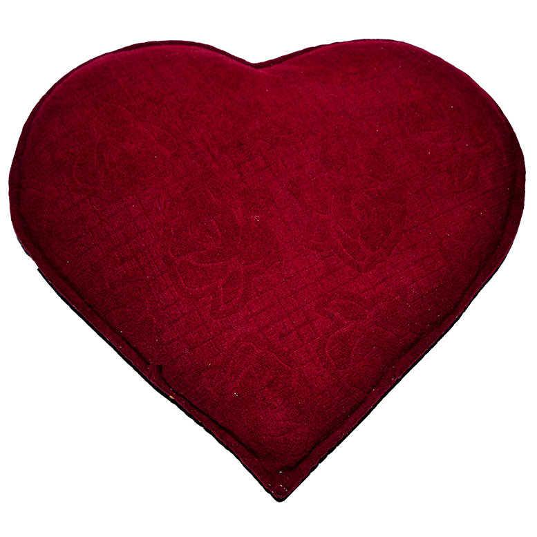Tuz Yastığı Kalp Desenli Gül Kabartmalı - Kırmızı