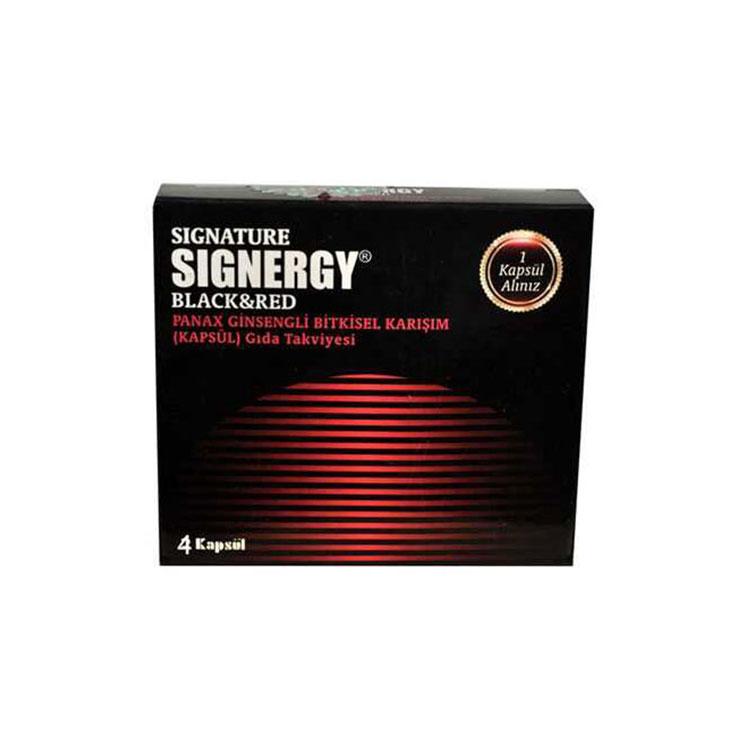 Signature Signergy Black Red Bay & Bayan 4 Kapsül