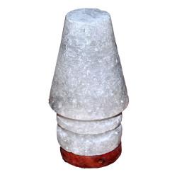 LokmanAVM - Abajur Şekilli Doğal Kaya Tuzu Lambası Çankırı Kablolu Ampullü Beyaz 1-2 Kg Görseli