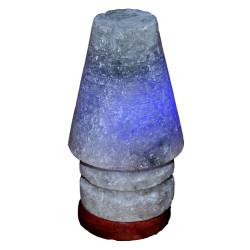 Abajur Şekilli Doğal Kaya Tuzu Lambası Çankırı Kablolu Ampullü Beyaz 1-2 Kg - Thumbnail