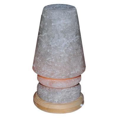 Abajur Şekilli Doğal Kaya Tuzu Lambası Çankırı Kablolu Ampullü Beyaz 3-4 Kg
