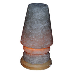 Abajur Şekilli Doğal Kaya Tuzu Lambası Çankırı Kablolu Ampullü Beyaz 3-4 Kg - Thumbnail