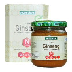 Aksuvital - Arı Sütü Ginseng Polen Bal Karışımı 220 Gr Görseli