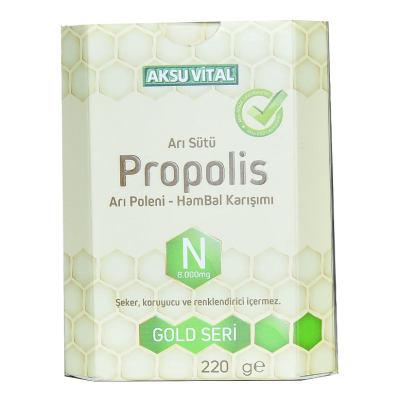 Arı Sütü Propolis Polen Bal Karışımı 220 Gr