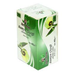 Hel-Dem - Bamya Çiçeği Mekke Gülü Bitki Çayı 2 Gr x 20 Süzen Poşet 40 Gr Görseli