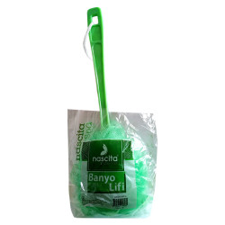 Banyo Duş Lifi Saplı Yeşil - Thumbnail