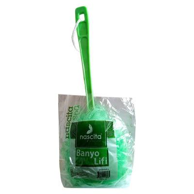 Banyo Duş Lifi Saplı Yeşil