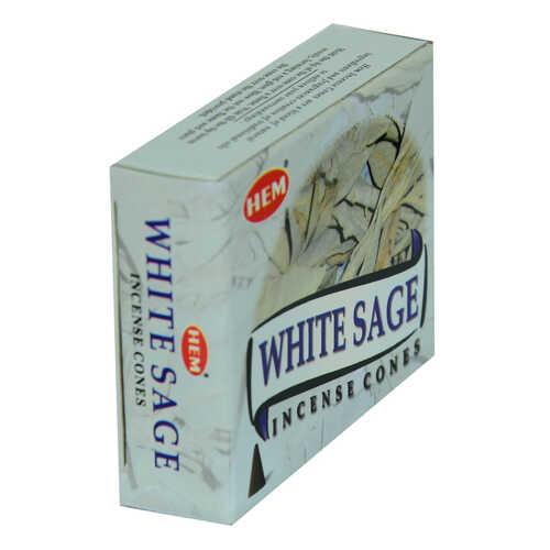 Beyaz Adaçayı Kokulu 10 Konik Tütsü - White Sage