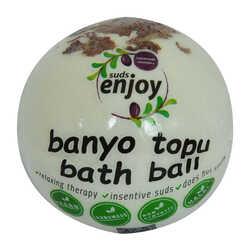 Beyaz Gül El Yapımı Banyo Bombası Banyo Topu Beyaz 90-120 Gr - Thumbnail