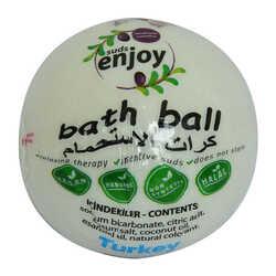 Enjoy - Beyaz Gül El Yapımı Banyo Küvet Topu Sabunu Beyaz 90-120 Gr (1)