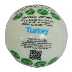 Beyaz Gül El Yapımı Banyo Küvet Topu Sabunu Beyaz 90-120 Gr - Thumbnail