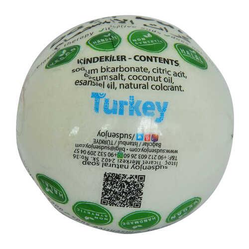 Beyaz Gül El Yapımı Banyo Küvet Topu Sabunu Beyaz 90-120 Gr