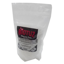 Biotuz - Himalaya Kristal Çakıl Tuz Beyaz 500 Gr Görseli