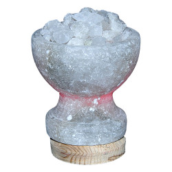 Çanak Şekilli Doğal Kaya Tuzu Lambası Çankırı Kablolu Ampullü Beyaz 1-2 Kg - Thumbnail