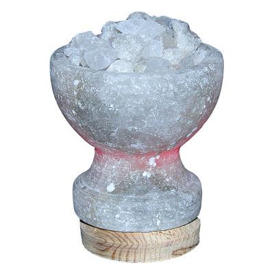 Çanak Şekilli Doğal Kaya Tuzu Lambası Çankırı Kablolu Ampullü Beyaz 1-2 Kg
