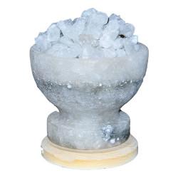 LokmanAVM - Çanak Şekilli Doğal Kaya Tuzu Lambası Çankırı Kablolu Ampullü Beyaz 2-4 Kg Görseli