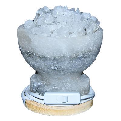 Çanak Şekilli Doğal Kaya Tuzu Lambası Çankırı Kablolu Ampullü Beyaz 2-4 Kg