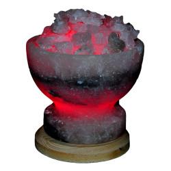 Çanak Şekilli Doğal Kaya Tuzu Lambası Çankırı Kablolu Ampullü Beyaz 2-4 Kg - Thumbnail
