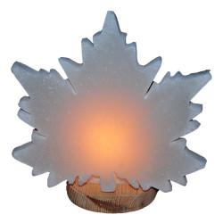 Çınar Yaprağı Desenli Kaya Tuzu Lambası 2-3Kg - Thumbnail