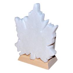 Çınar Yaprağı Şekilli Doğal Kaya Tuzu Lambası Kablolu Ampullü Beyaz 1-2 Kg - Thumbnail