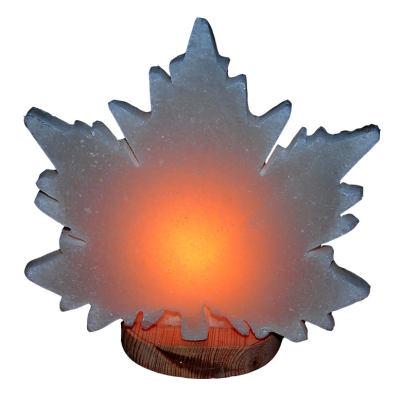 Çınar Yaprağı Şekilli Doğal Kaya Tuzu Lambası Kablolu Ampullü Beyaz 2-3 Kg