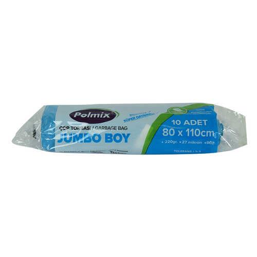 Çöp Torbası Jumbo Boy 80x110Cm 220Gr 27Mikron 90Lt Mavi Rulo 10 Adet