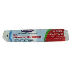Çöp Torbası Jumbo Boy 80x110Cm 400Gr 50Mikron 90Lt Mavi Rulo 10 Adet - Thumbnail