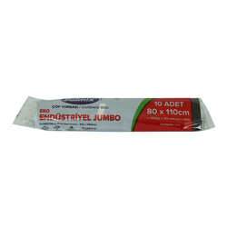 Çöp Torbası Jumbo Boy 80x110Cm 400Gr 50Mikron 90Lt Siyah Rulo 10 Adet - Thumbnail