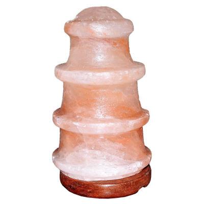 Deniz Feneri Şekilli Doğal Himalaya Kaya Tuzu Lambası Kablolu Ampullü Pembe 2-3 Kg