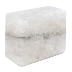 LokmanAVM - Dikdörtgen Şekilli Çankırı Doğal Kaya Tuzu Sabunu Beyaz 200-300 Gr Görseli