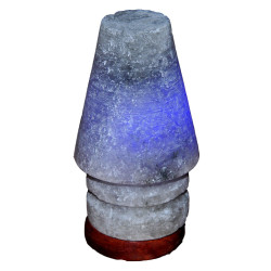 Doğal Abajur Kaya Tuzu Lambası Çankırı Kablolu Ampullü Beyaz 1-2 Kg - Thumbnail