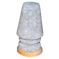 LokmanAVM - Doğal Abajur Kaya Tuzu Lambası Çankırı Kablolu Ampullü Beyaz 3-4 Kg Görseli