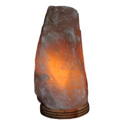 Doğal Himalaya Kaya Tuzu Lambası Kablolu Ampullü Beyaz 2-3 Kg - Thumbnail