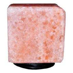 Doğal Himalaya Tuz Lambası Kare Küp Şekilli Kablolu Ampullü Pembe 4-5 Kg - Thumbnail