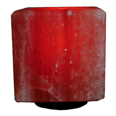 Doğal Himalaya Tuz Lambası Kare Küp Şekilli Kablolu Ampullü Pembe 4-5 Kg