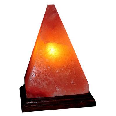 Doğal Himalaya Tuz Lambası Piramit Şekilli Kablolu Ampullü Pembe 3-4 Kg