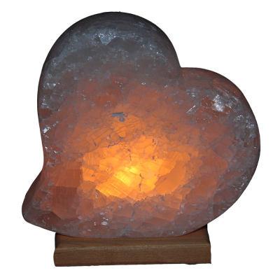 Doğal Kalp Kaya Tuzu Lambası Çankırı Kablolu Ampullü Beyaz 3-4 Kg