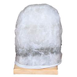 Doğal Kaya Tuzu Lambası Çankırı Kablolu Ampullü Beyaz 4-5 Kg - Thumbnail
