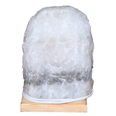 Doğal Kaya Tuzu Lambası Çankırı Kablolu Ampullü Beyaz 4-5 Kg
