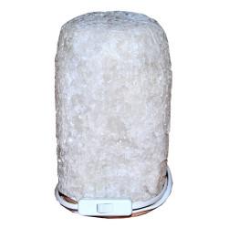 Doğal Kaya Tuzu Lambası Çankırı Kablolu Ampullü Beyaz 5-6 Kg - Thumbnail