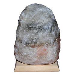 Doğal Kaya Tuzu Lambası Kırşehir Kablolu Ampüllü Beyaz 2-3 Kg - Thumbnail