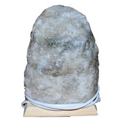 Doğal Kaya Tuzu Lambası Kırşehir Kablolu Ampullü Beyaz 3-4 Kg - Thumbnail