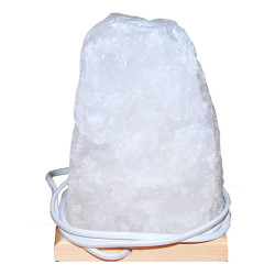 Doğal Kristal Kaya Tuzu Lambası Çankırı Kablolu Ampullü Beyaz 2-3 Kg - Thumbnail